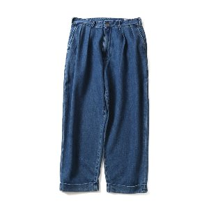 19SS Corrigin Wide Loose Denim Pants Light Navy