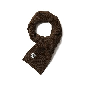 Skiff Knit Muffler Dark Brown