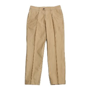Millspaugh One tuck Cotton Pants Beige