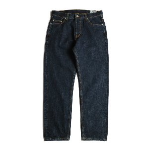 Blueborn Loose Tapered Denim Pants Dark Navy_Button Fly