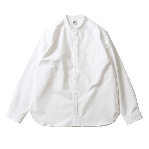 19SS Success Stand Collar Oxford Shirts White