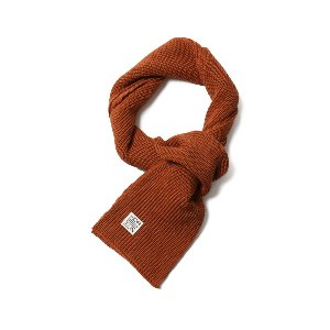 Skiff Knit Muffler Orange Ochre