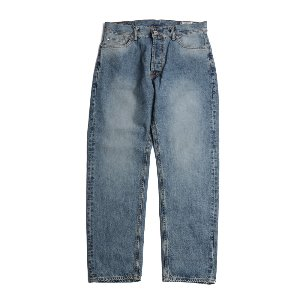 Blueborn Loose Tapered Denim Pants Light Navy_Button Fly