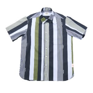 Buford Muli Stripe Printing Shirts Green