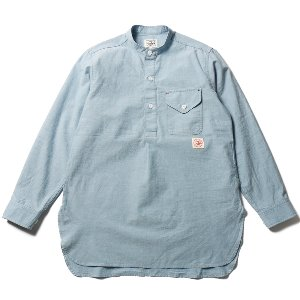 Stanley Indigo Chambray Tunic Shirts Blue_Japan Fabric
