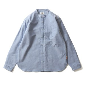 19SS Success Stand Collar Oxford Shirts Blue