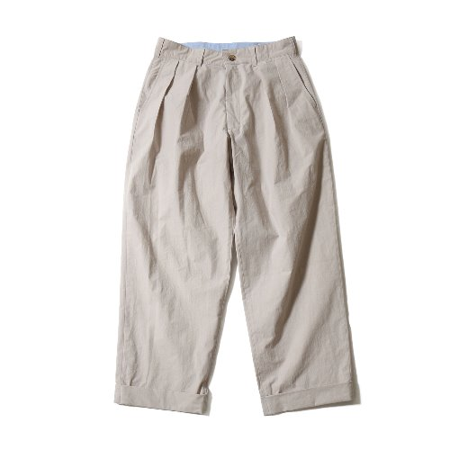 [재입고] 20SS Laurier Typewriter Water Repellent Wide Pants Gray Beige