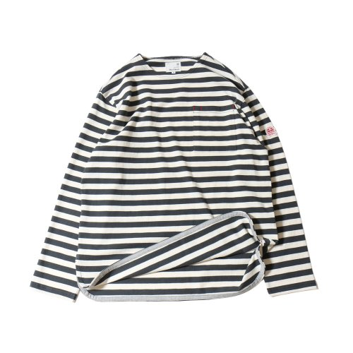 20SS Union Pocket Stripe Seasonal T-shirts Gray Cream
