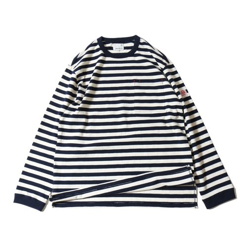 20SS Powell Pocket Stripe Seasonal T-shirts Navy Cream