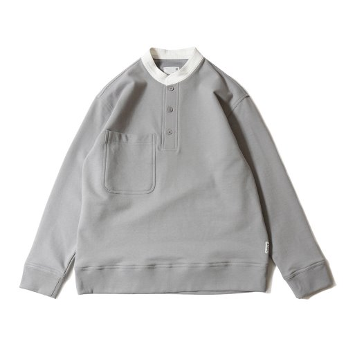 20SS Forest Cotton Collar Button Pullover Gray