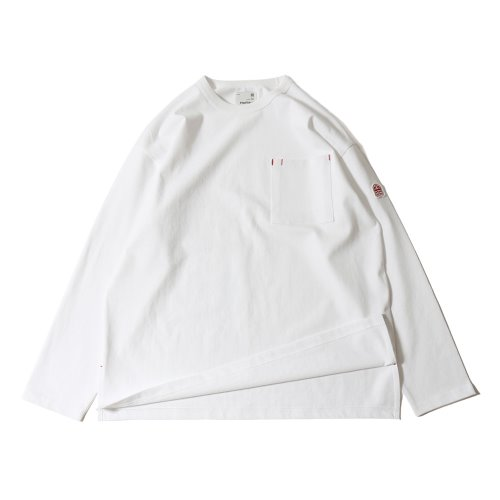 20SS Lawrence Overfit Long Sleeve Pocket T-shirts White