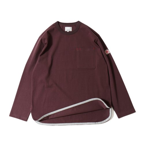 20SS Emery Long Sleeve Pocket Seasonal T-shirts Bold Burgundy