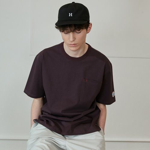 3차 재입고_20SS Emery Short Sleeve Pocket Seasonal T-shirts Bold Burgundy