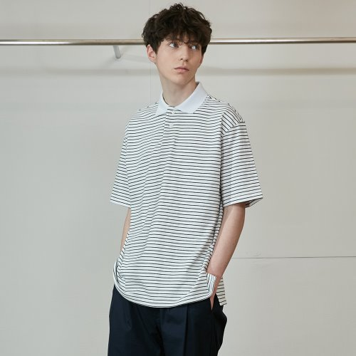 20SS Sumerset Stripe Pullover Shirts Black