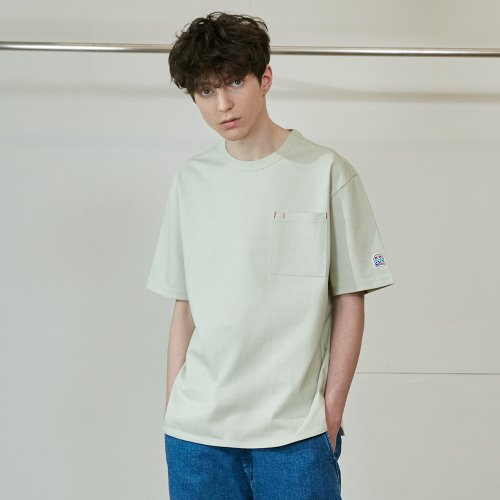 3차 재입고_20SS Emery Short Sleeve Pocket Seasonal T-shirts Light Green