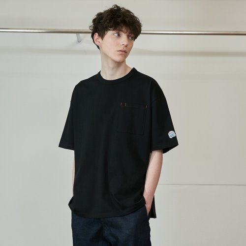 3차 재입고_20SS Lawrence Overfit Short Sleeve Pocket T-shirts Black
