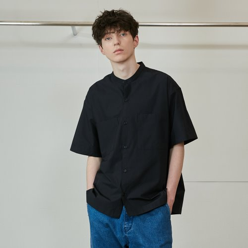 20SS Success Extra Typewriter Short Sleeve Shirts Navy