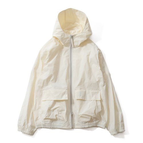 20FW Breeze Nylon Hood Zip Up Jacket Offwhite