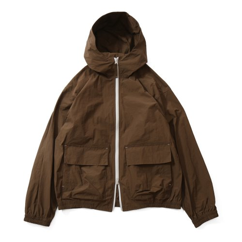 20FW Breeze Nylon Hood Zip Up Jacket Brown