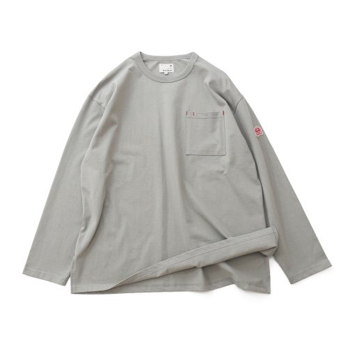 20FW Lawrence Overfit Long Sleeve Pocket T-shirts Gray