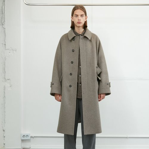 20FW Winterport Wool Long Coat Seasonal Melange Beige