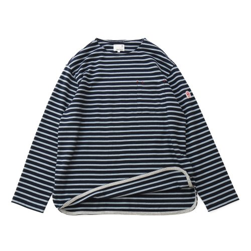 20FW Union Pocket Stripe Seasonal T-shirts Navy Blue