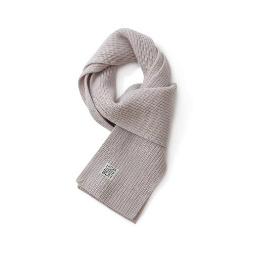 20FW Skiff Knit Muffler Snow Gray