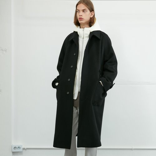 20FW Winterport Wool Long Coat Seasonal Black