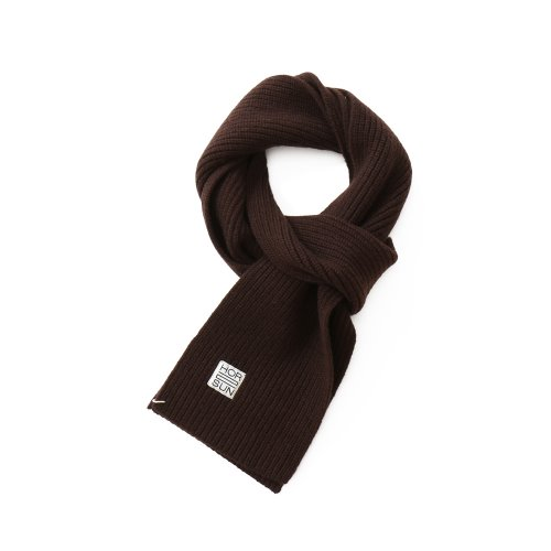 20FW Skiff Knit Muffler Dark Brown
