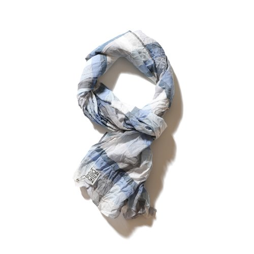 21SS Keele Multi Check Scarf Blue