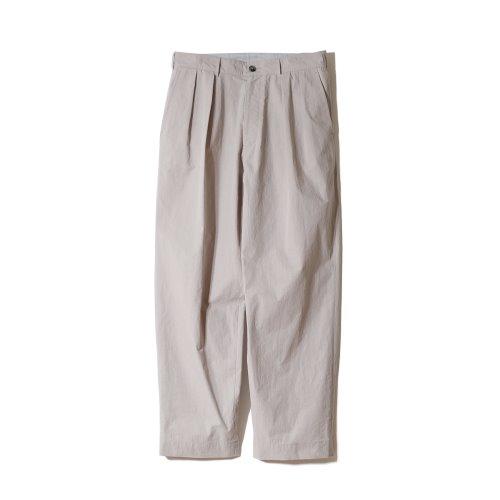 21SS Corinth Typewriter Water Repellent Wide Pants Gray Beige