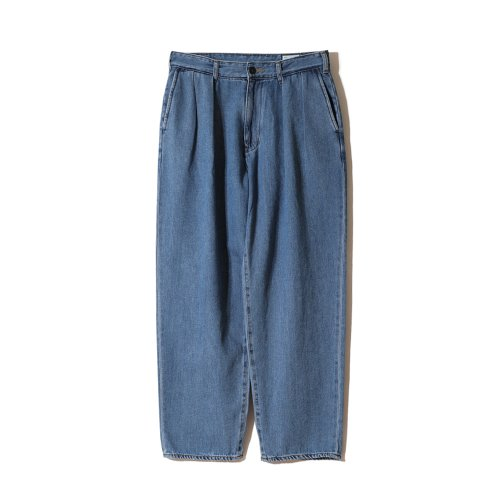 21SS Corrigin Wide Loose Denim Pants Light Navy