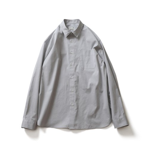 21SS Jane Silky Oxford Shirts Light Gray