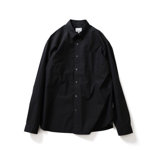 21SS Jane Solid Extra Typewriter Shirts Navy