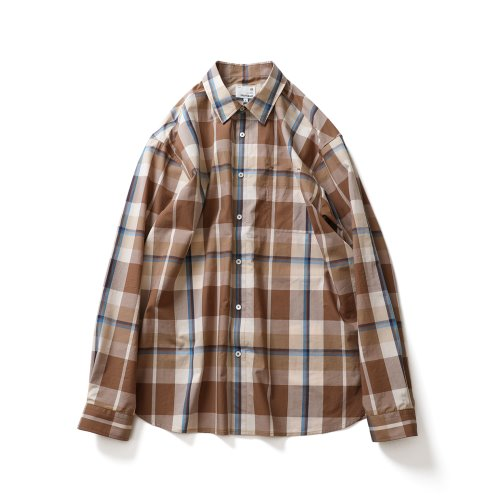 21SS Maili Multi Check Shirts Beige Layer
