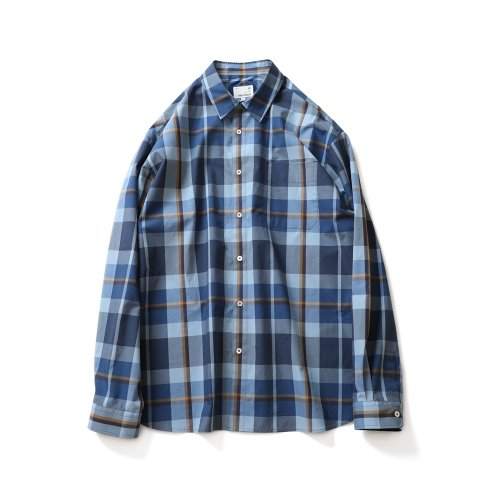 21SS Maili Multi Check Shirts Blue Layer