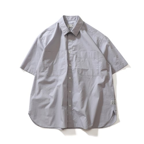 21SS Poole Extra Typewriter Short Sleeve Shirts Soft Lavender
