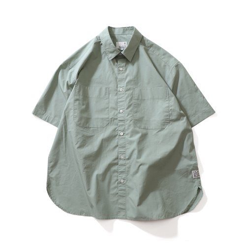 21SS Poole Extra Typewriter Short Sleeve Shirts Sage Green