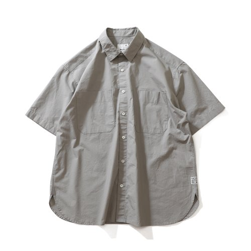 21SS Poole Extra Typewriter Short Sleeve Shirts Light Gray