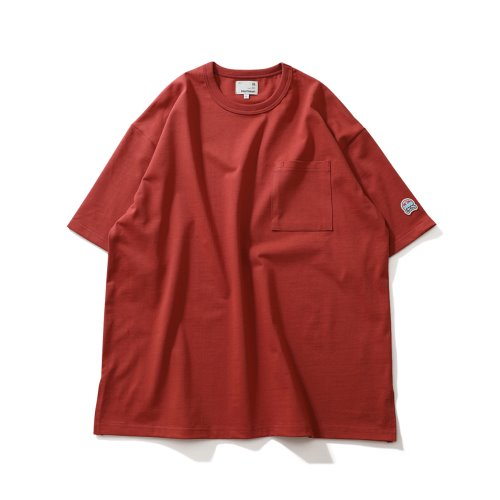 21SS Lawrence Overfit Short Sleeve Pocket T-shirts Cherry Tomato