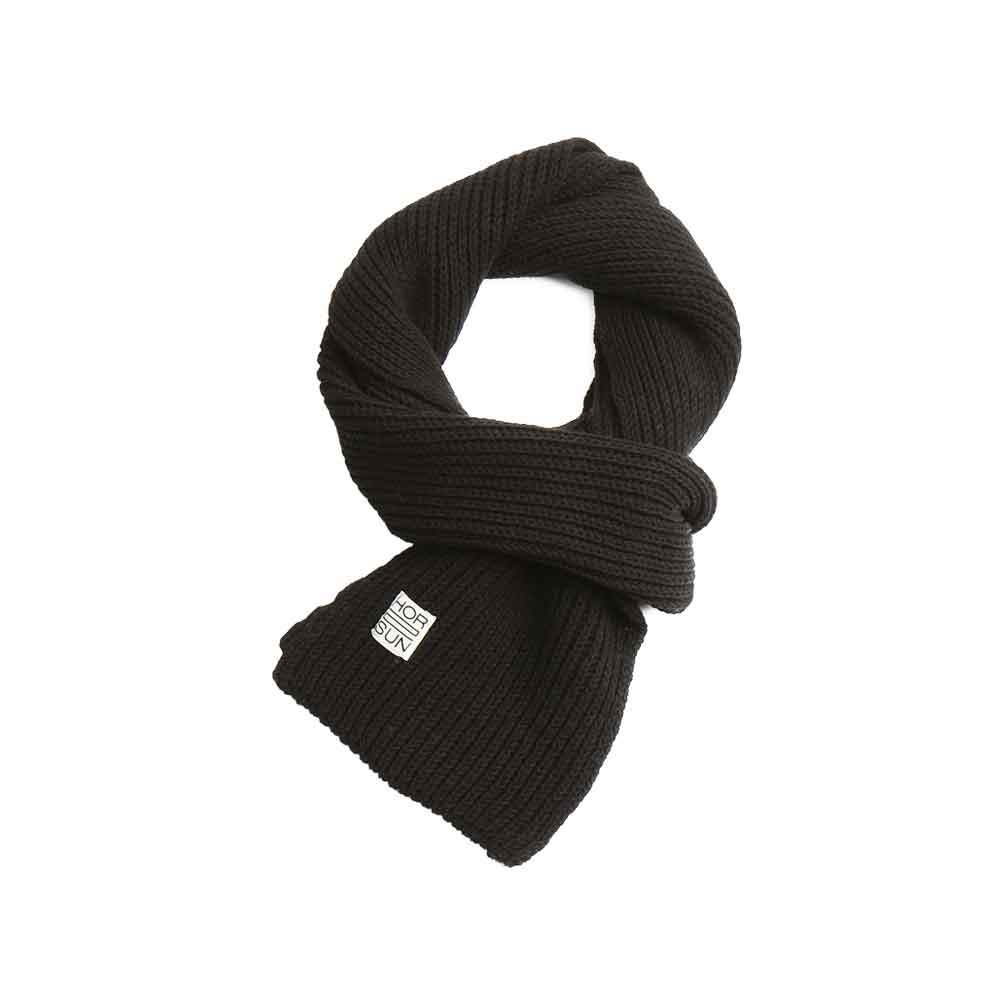 Skiff Knit Muffler Black