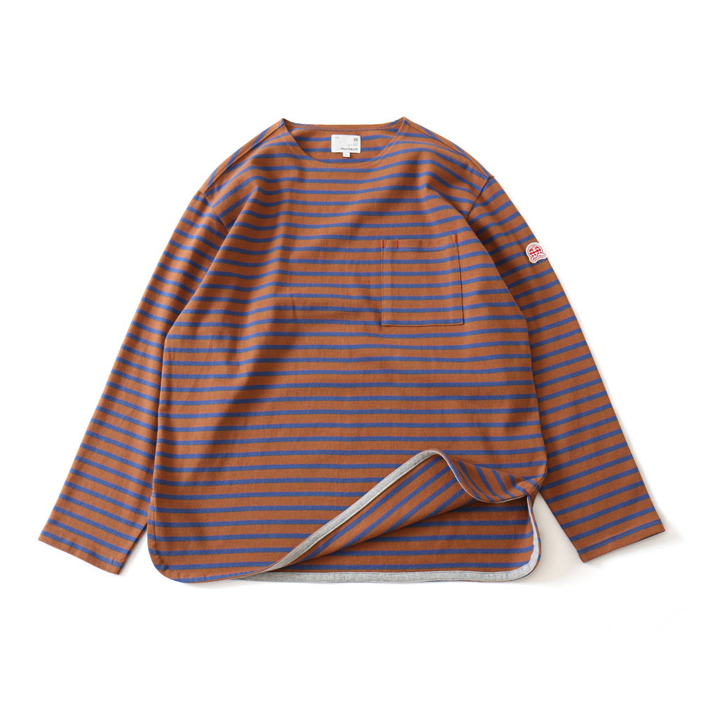 19FW Union Long Sleeve Pocket T-shirts Brown Blue