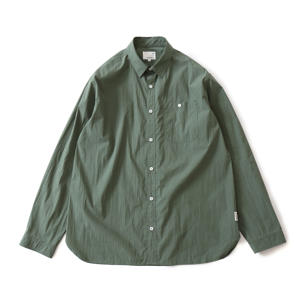 19FW Dundas Cotton Nylon Shirts Dark Green