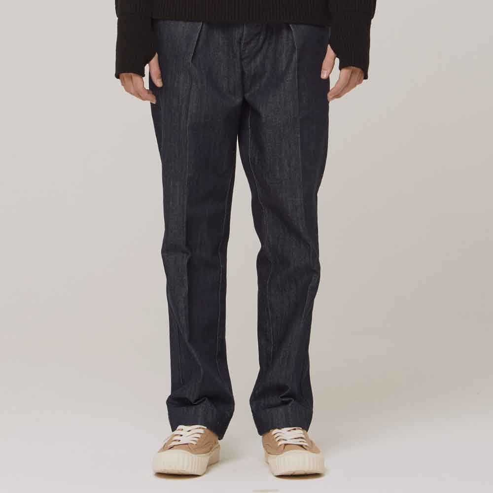 Sonora One Tuck Denim Trousers Dark Navy